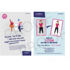 The 1:1 Diet A5 Printed Flyers