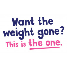 Want the weight gone - Vinyl  Wall Art